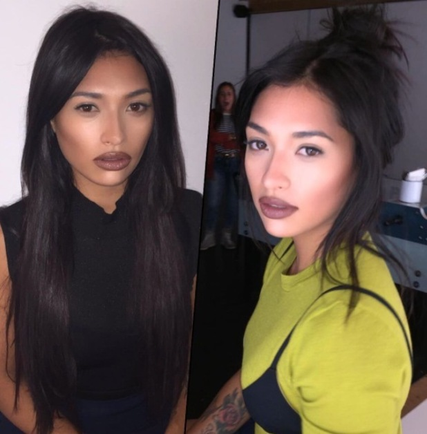 The Saturdays singer Vanessa White takes to Instagram to show off nude lips, 1st February 2016