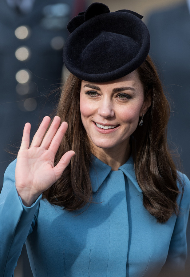 Duchess Of Cambridge attends the 75th anniversary of the RAF Cadets service at the RAF St. Clement Danes chapel, 7 February 2016.
