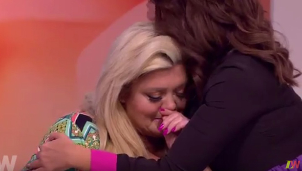 Gemma Collins cries on Loose Women after being asked about Stephen Mortimer. 4 February 2016