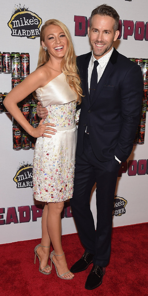 Blake Lively and Ryan Reynolds attend the 'Deadpool' fan event at AMC Empire Theatre, New York 8 February