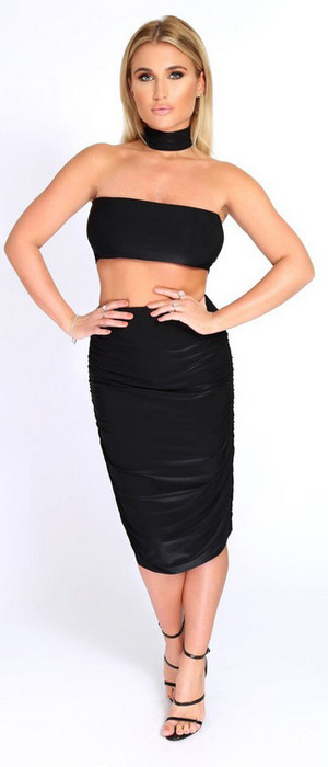 TOWIE star Billie Faiers launches spring collection with In The Style, black co-ordinates £24.99, 9th February 2016