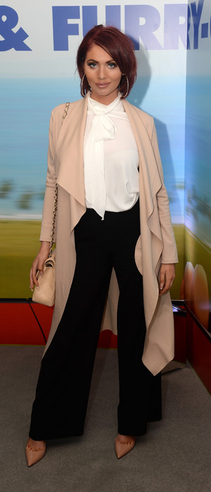 Former TOWIE star Amy Childs attends the Alvin And The Chipmunks: The Road Chip screening in London, 7th February 2016