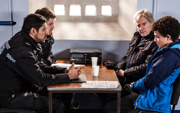 Corrie, Simon questioned by the police, Fri 12 Feb