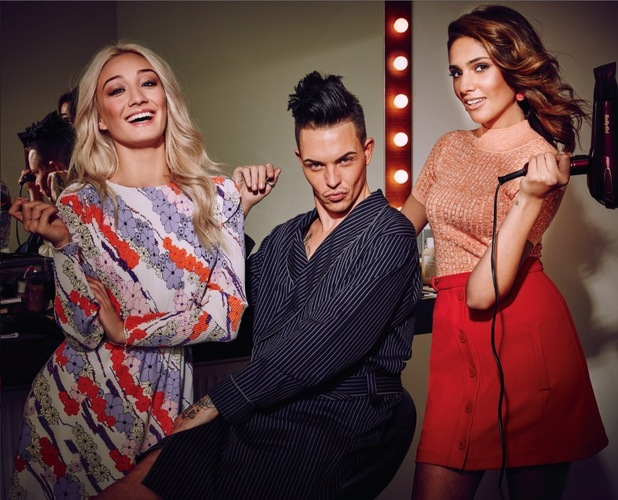 Bobby Norris and Britain's Next Top Model finalists Zoolander shoot 10th February 2016