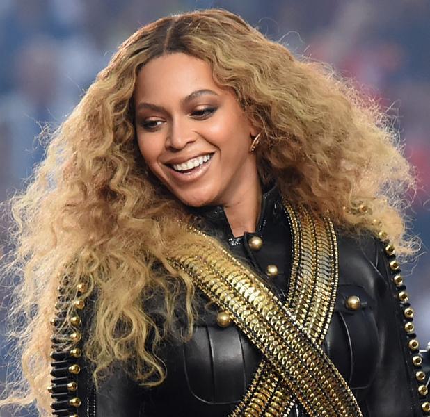 Beyonce performs at the Super Bowl 50 Half Time Show, Santa Clara, California, 7th February 2016