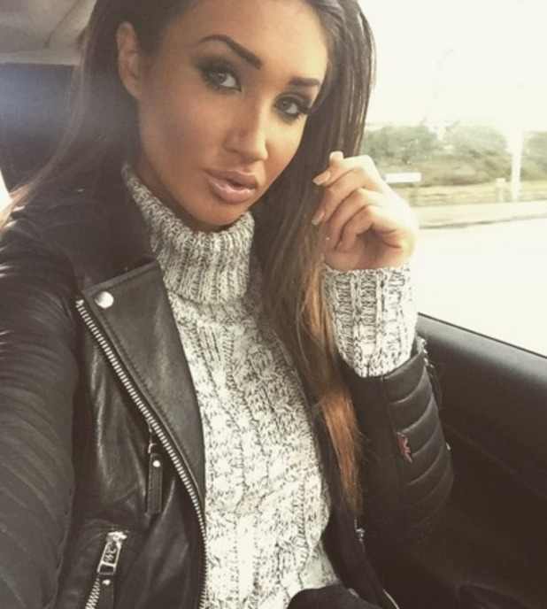 Megan McKenna en route to Ex on the Beach press day in London 10 February 2016