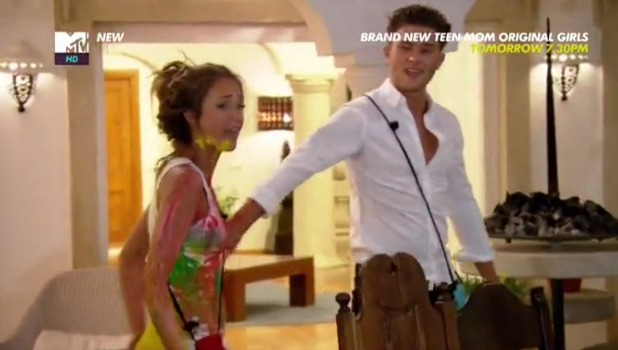 Ex On The Beach: Jordan and Lewis row after Lewis' painting date with Megan Episode 4, 9 February 2015