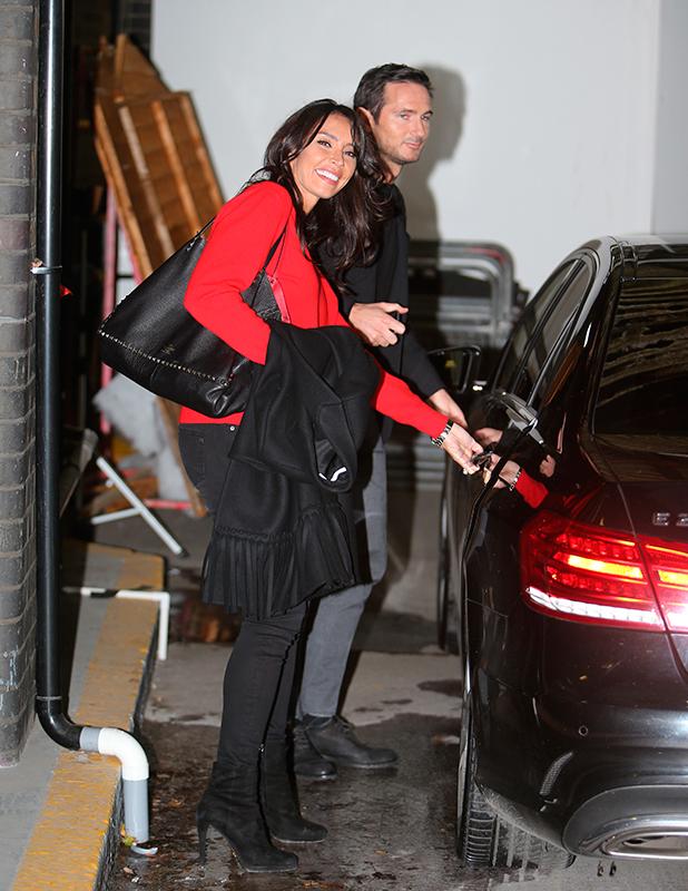 Frank Lampard and Christine Bleakley outside ITV Studios 11 Feb 2016