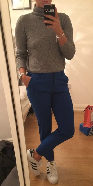 Brooke Vincent Blog: Favourite look smart trousers with trainers 18 February