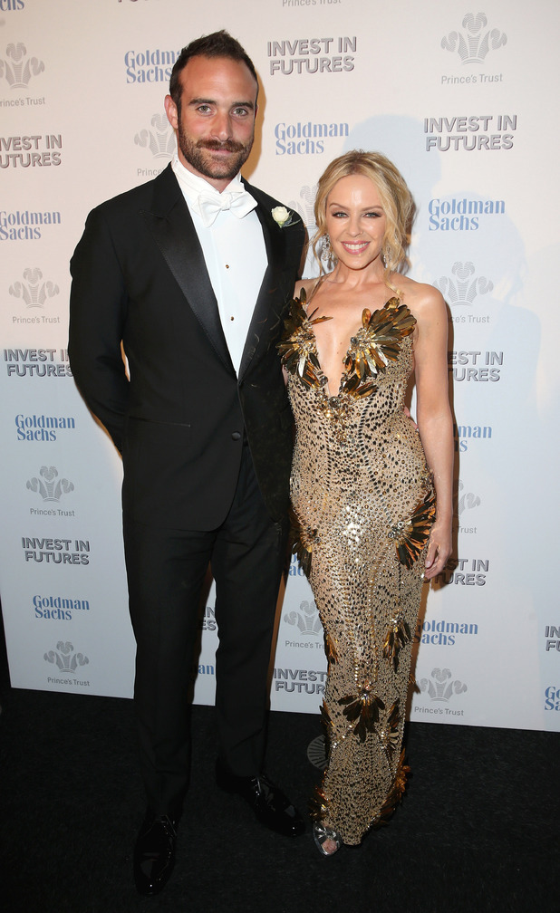Kylie Minogue and Josh Sasse attend a pre-dinner reception for the Prince's Trust Invest on February 4, 2016 in London.
