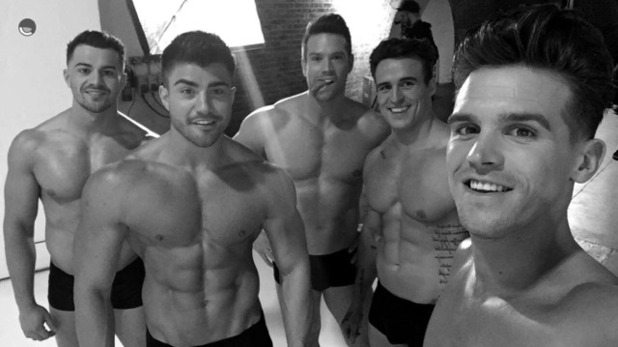 Gary Beadle joins The Dreamboys for a photoshoot 18 February