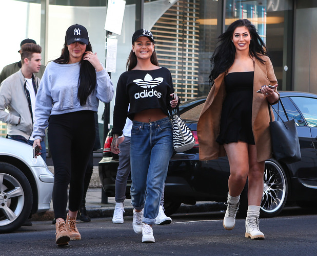 Geordie Shore's Chantelle Connelly, Chloe Ferry, Marnie Simpson arrive at MTV HQ in London, 16th February 2016