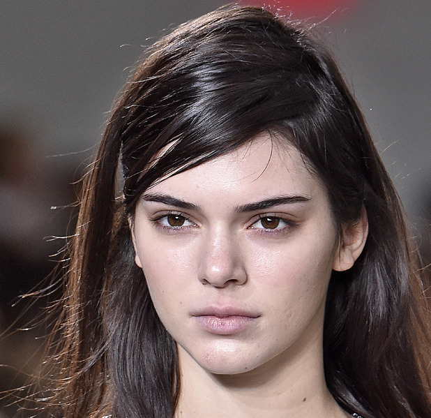 Kendall Jenner walking in the Michael Kors show, no make-up, New York Fashion Week, New York, 18th February 2016