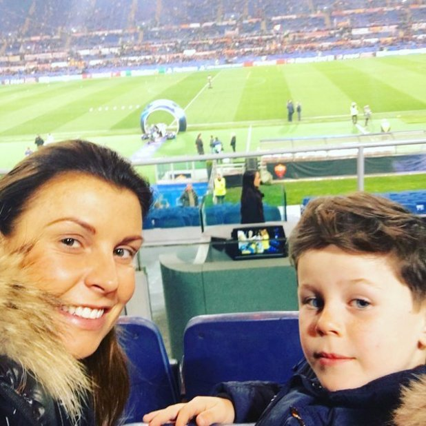 Coleen Rooney and son Kai in Italy - 18 February 2016