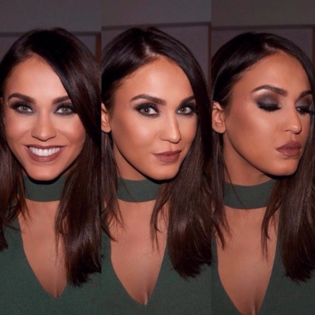 Vicky Pattison's make-up artist shares product breakdown of sultry, smokey look on Instagram, 16th February 2016