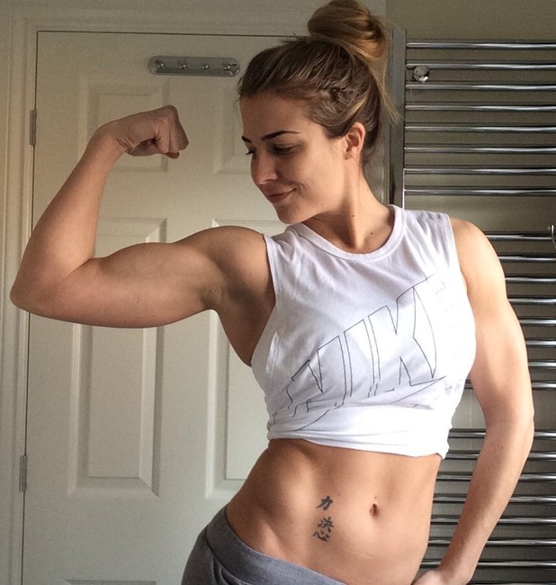 Gemma Atkinson shows off amazing body after workout session, 19 February 2016.