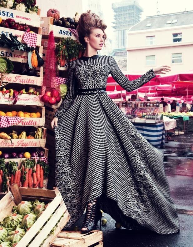 Britain's Next Top Model: Jenna McMahon Hippy Garden photo shoot. February 2016.