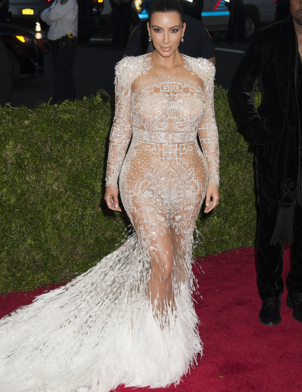 Kim Kardashian attends the Met Gala 2014 in New York, red carpet arrivals, 4th May 2014