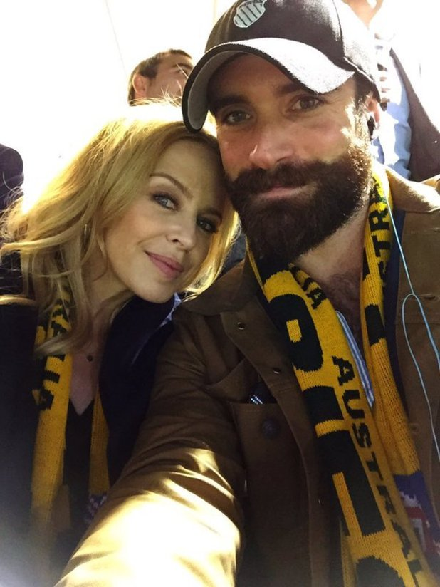 Kylie Minogue and Josh Sasse share selfie in October 2015.