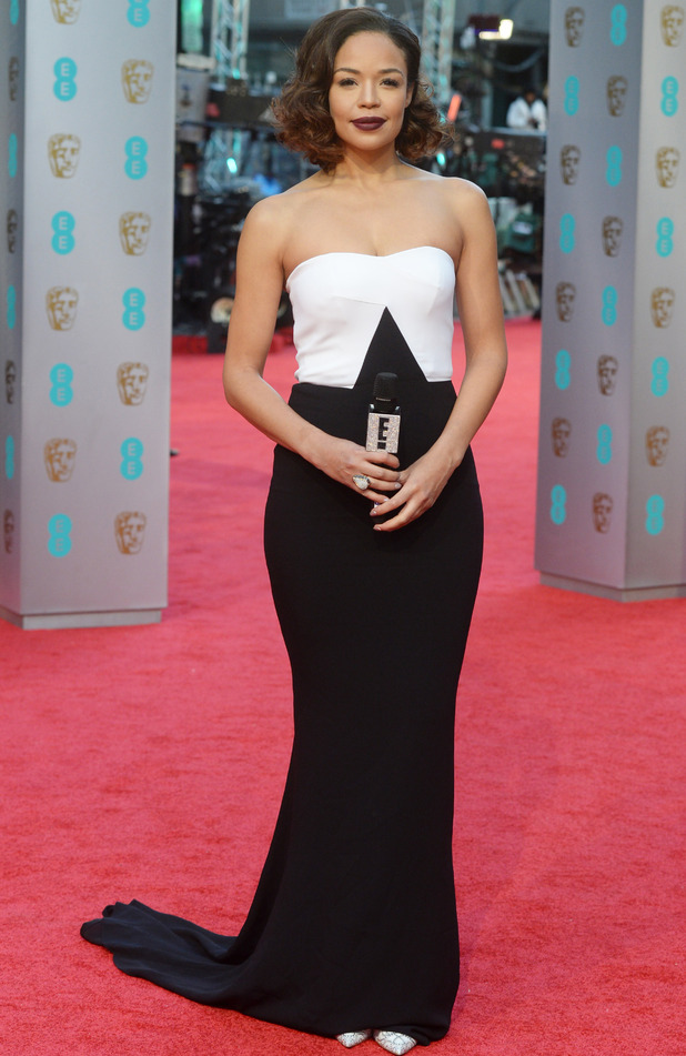 Sarah-Jane Crawford on the red carpet at the British Academy Film Awards 2016 in London, 15th February 2016