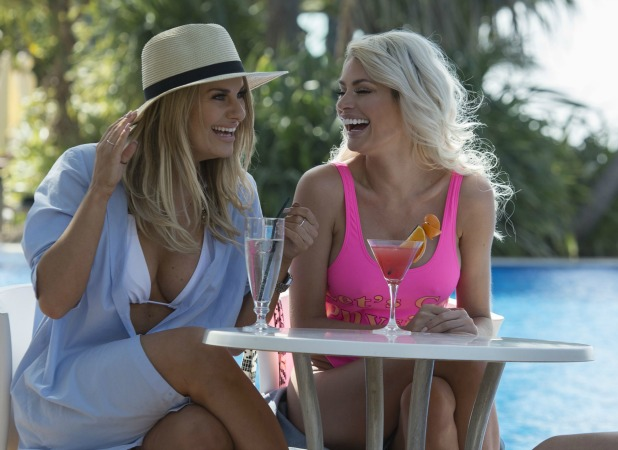The Only Way is Essex' cast filming, Gran Canaria, Spain - 16 Feb 2016 Danielle Armstrong and Chloe Sims.