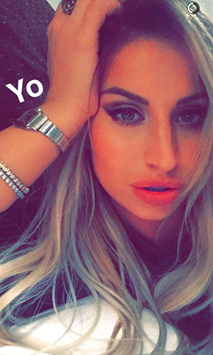 Ferne McCann shows off new hair extensions on Snapchat 18 February 2016