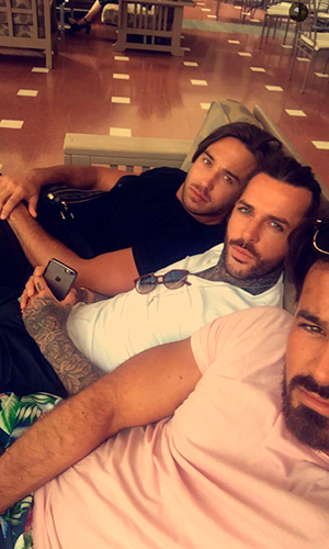 TOWIE's Pete, Mike and James not impressed by rain in Gran Canaria Snapchat, 18 February 2016