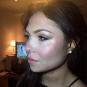 Fran Parman's Instagram mishap of her make-up 22 February