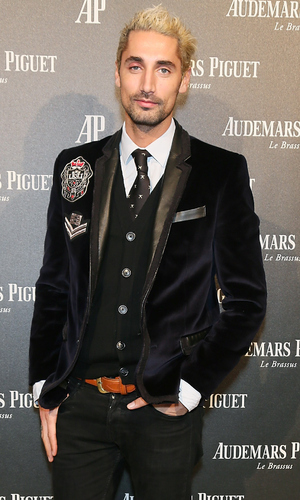 Hugo Taylor attends as Audemars Piguet launch the Royal Oak Yellow Gold collection at Phillips Gallery