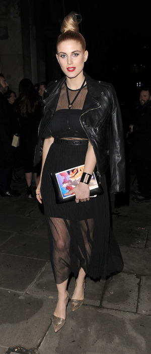 Former Made In Chelsea star Ashley James attends London Fashion Week show, London, 20th February 2016