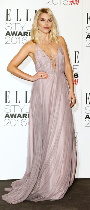The Saturdays singer Mollie King arrives at the ELLE Style Awards in London, 23rd February 2016