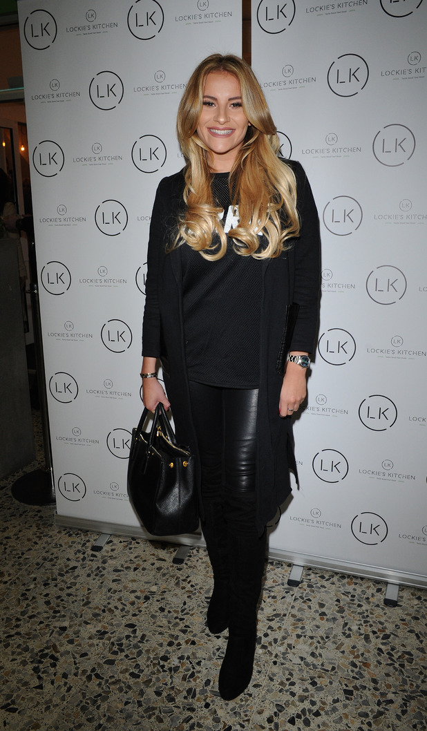 TOWIE star Georgia Kousoulou at the opening of Lockie's Kitchen in Romford Essex, 23rd February 2016