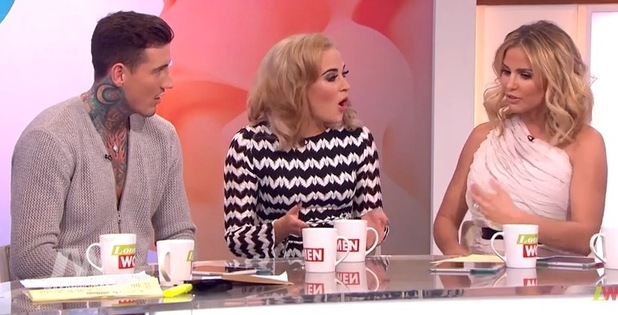 Katie Price on 'Loose Women' interviewing Steph and Jeremy - 26 February 2016.