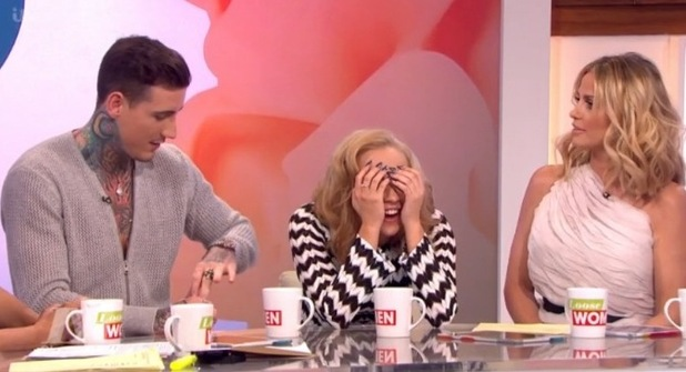 Steph and Jeremy on Loose Women - 26 February 2016.