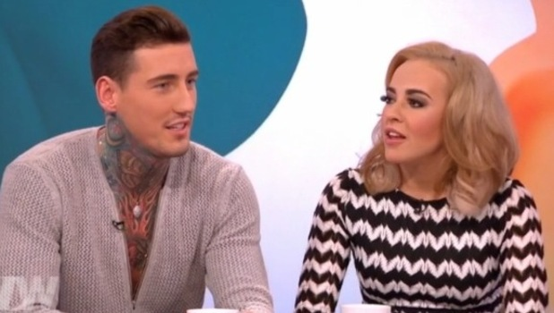 Stephanie Davis and Jeremy McConnell on Loose Women. 26 February 2016.