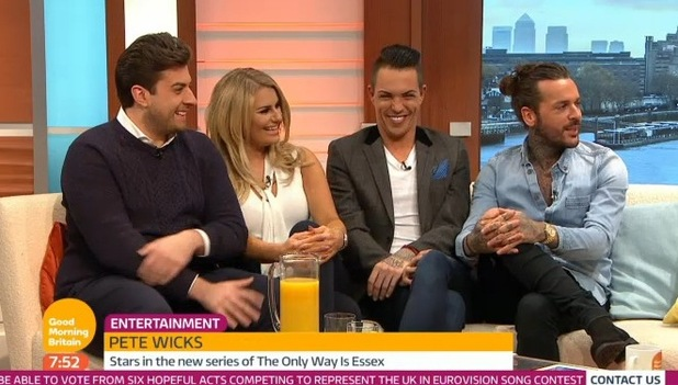 TOWIE cast on Good Morning Britain. 26 February 2016.