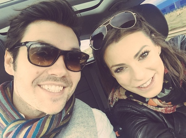 Dancing On Ice stars Sam Attwater and Vicky Ogden share selfie after announcing baby news. 21 February 2016.