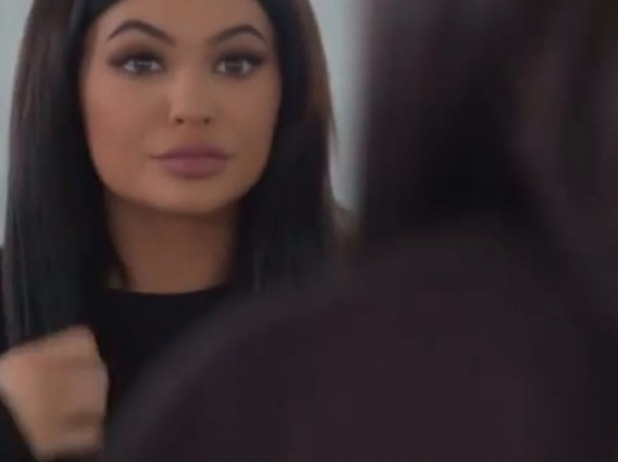 Kylie Jenner shows off her contoured look on www.kyliejenner.com, 25th February 2016