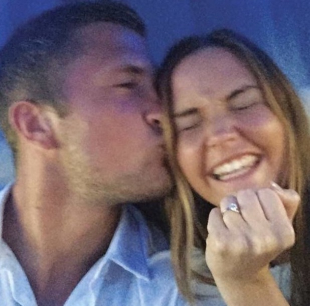 Dan Osborne and Jacqueline Jossa after getting engaged 21 February