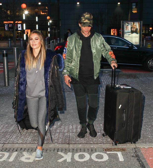 Jonathan Cheban and his girlfriend Anat Popovsky arrive at Heathrow - 26 February 2016.