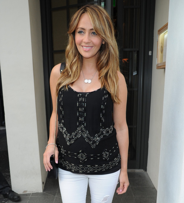 Pregnant Samia Ghadie arrives at Victor's restaurant. 26 June 2015.