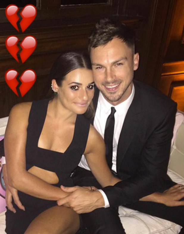 Lea Michele splits from Matthew Paetz after almost two years, February 2016
