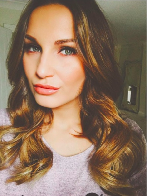 Sam Faiers shows off newly-dyed hair, 27 February 2016.
