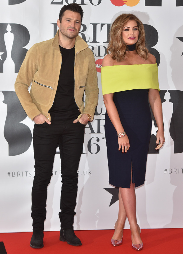 Mark and Jessica Wright at Brits 2016 - London - 24 Feb 2016