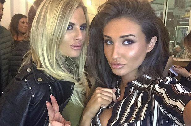 Megan McKenna and Danielle Armstrong at Lockie's Kitchen 22 February 2016