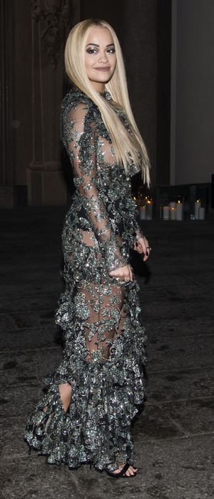 Rita Ora attends the Vogue Italy Milan Fashion Week party in Milan, 28th February 2016