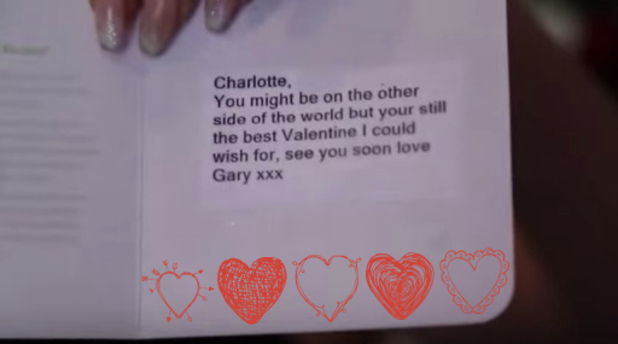 Charlotte Crosby reveals Gaz Beadles cute Valentine's Day message in YouTube video, 25th February 2016