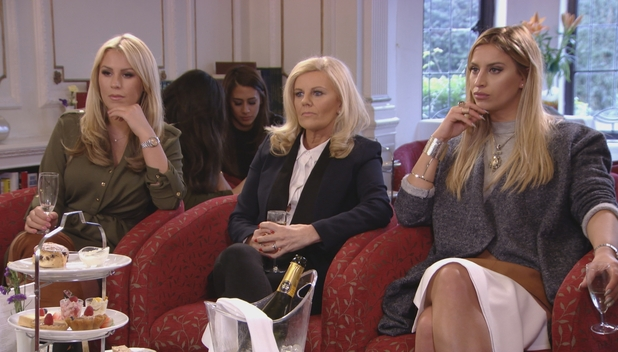 TOWIE: Ferne McCann has afternoon tea with Danielle and her mum. 6 March 2016.