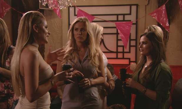 TOWIE: Georgia confronts Courtney. 6 March 2016.