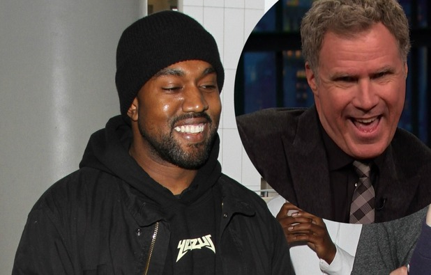 Kanye West and Will Ferrell photo.